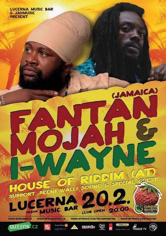 Soutěž o volný vstup na pondělní koncert Fantan Mojah & I-Wayne v Lucerna Music Baru!