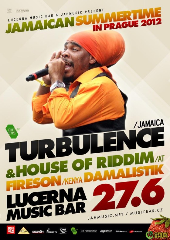 Support: Turbulence + House Of Ridiim + Fireson @ Lucerna Music Bar.