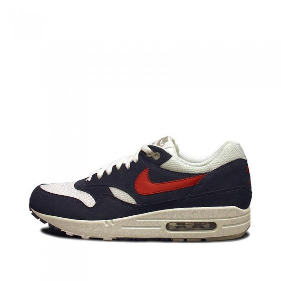 Nike Air Max 1 Thunder - White - Gym Red