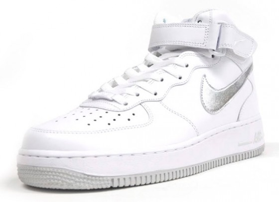 Nike Air Force 1 Mid – White – Metallic Silver // Již brzy!