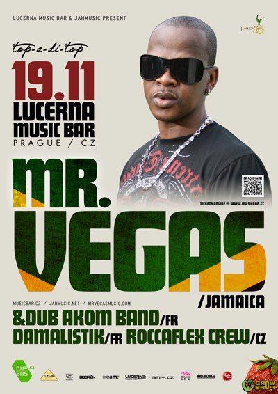 Jamajská reggae/dancehallová superstar Mr. Vegas přijede 19. listopadu poprvé do Prahy!