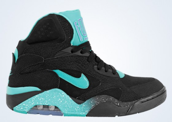 Nike Air Force 180 Mid Black / Atomic Teal. Zpátky do 90. let!