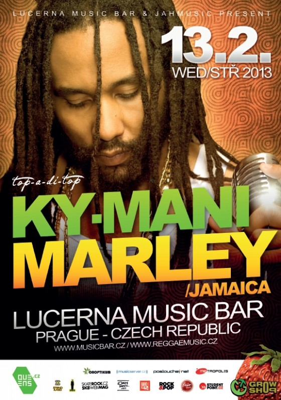 Jamajské hvězdy Ky-Mani Marley a Anthony B vystoupí v pražském Lucerna Music Baru