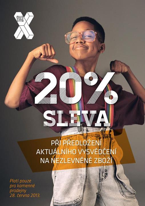Získej slevu 20% na kamenné prodejně
