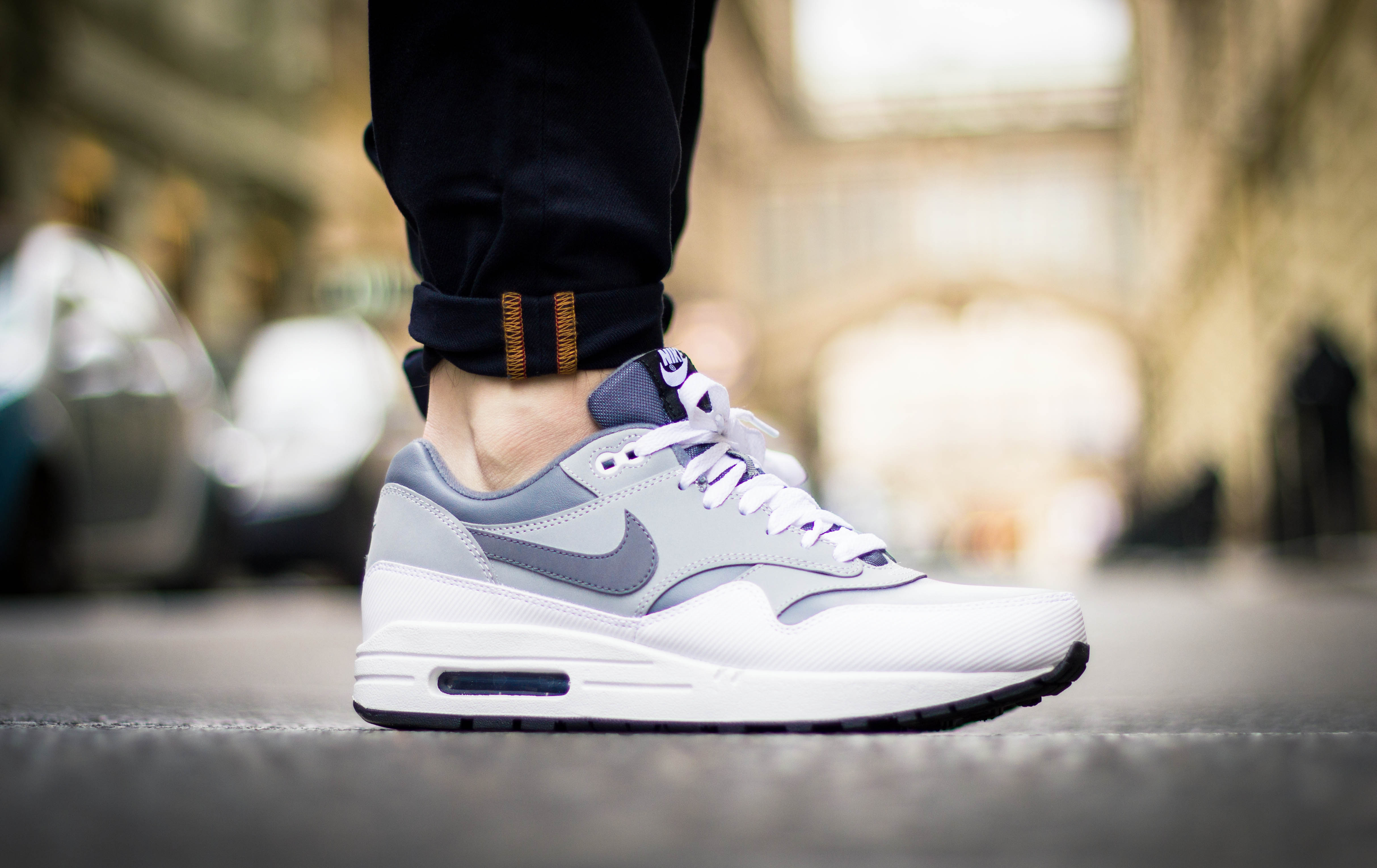 "Nike Air Max 1 Leather ""Cool Grey"" / Detailní fotky"