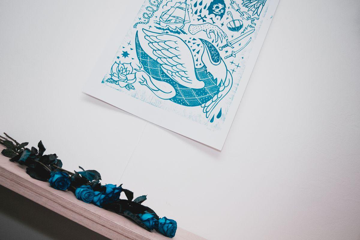 Štěpán Křížek: Modrá je dobrá | Fotky z vernisáže
