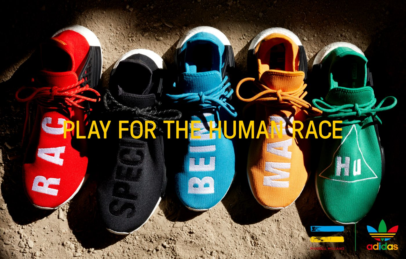 Pharrell Williams x adidas Hu collection release