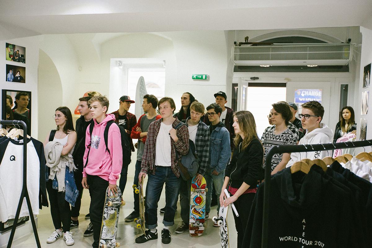 Queens x Maxim Habanec   Skate of Mind merch S/S 17 instore drop