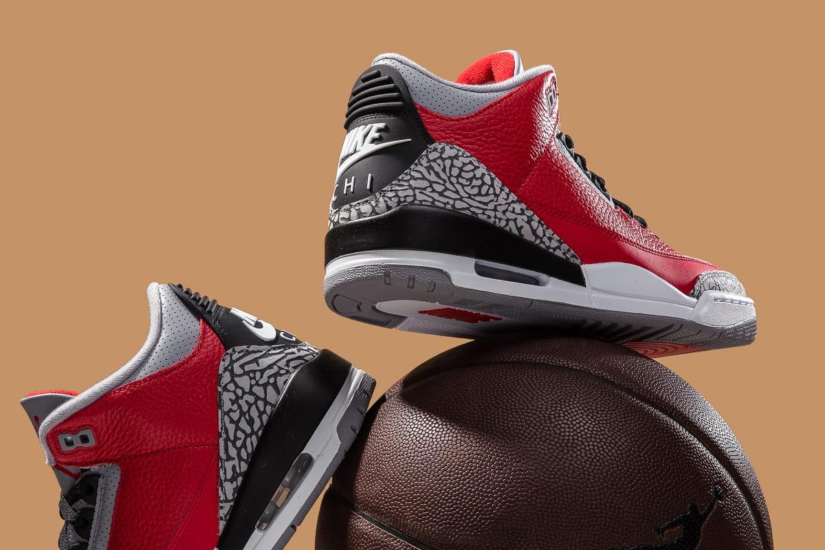 Air Jordan 3 Retro Fire Red Cement (Nike Chi)